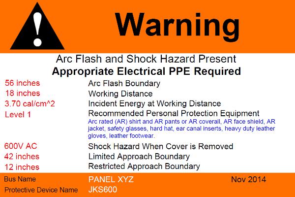Custom Arc Flash Warning Label Printing