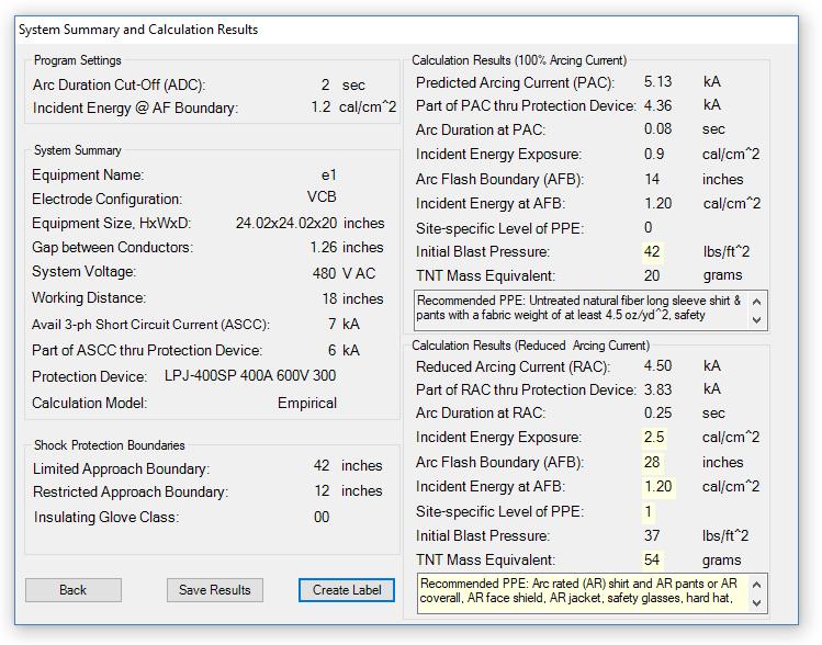 NFPA 70E arc flash calculation example | Electric Arc