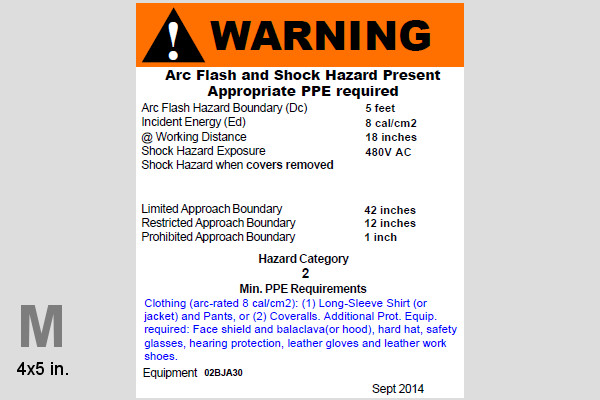 custom arc flash warning label printing. Black Bedroom Furniture Sets. Home Design Ideas